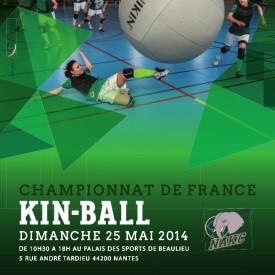 Affiche Championnat de France de Kin Ball 25/05/2014