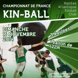 Affiche Championnat de France de Kin Ball 16/11/2014
