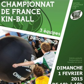 Affiche Championnat de France de Kin Ball 01/02/2015