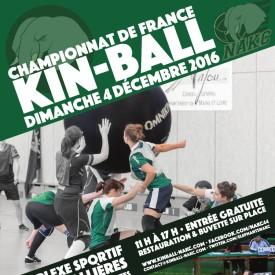 Affiche Championnat de France de Kin Ball 04/12/2016
