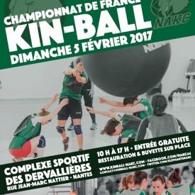 Affiche Championnat de France de Kin Ball 05/02/2017