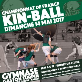 Affiche Championnat de France de Kin Ball 14/05/2017
